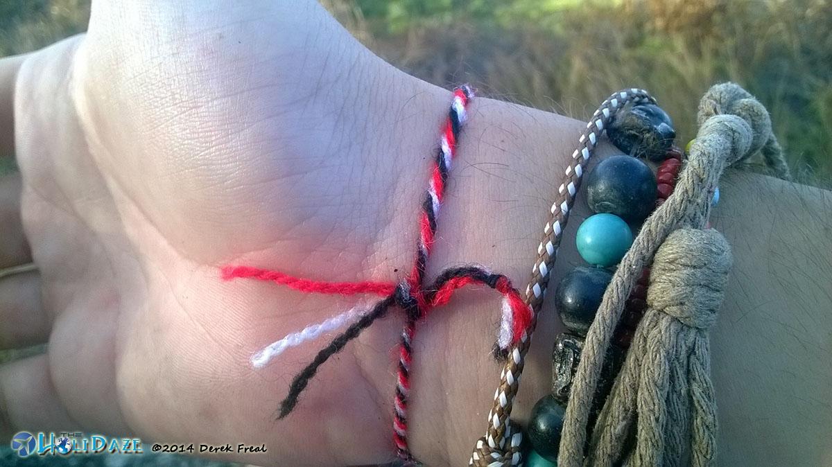 Tour de Horror blessing: Tridatu bracelet