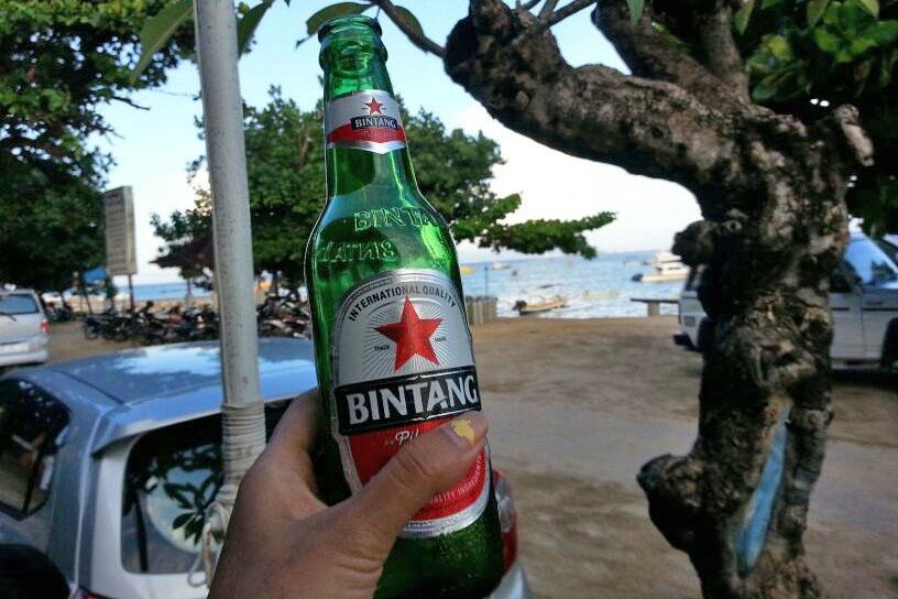 Summer beer in Bali