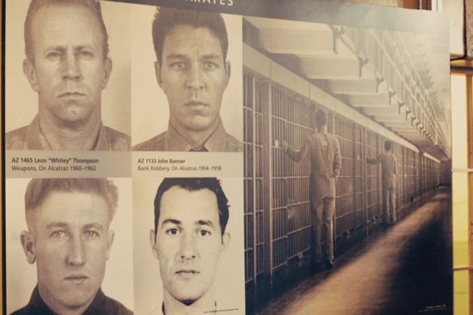 Old photos of inmates at Alcatraz