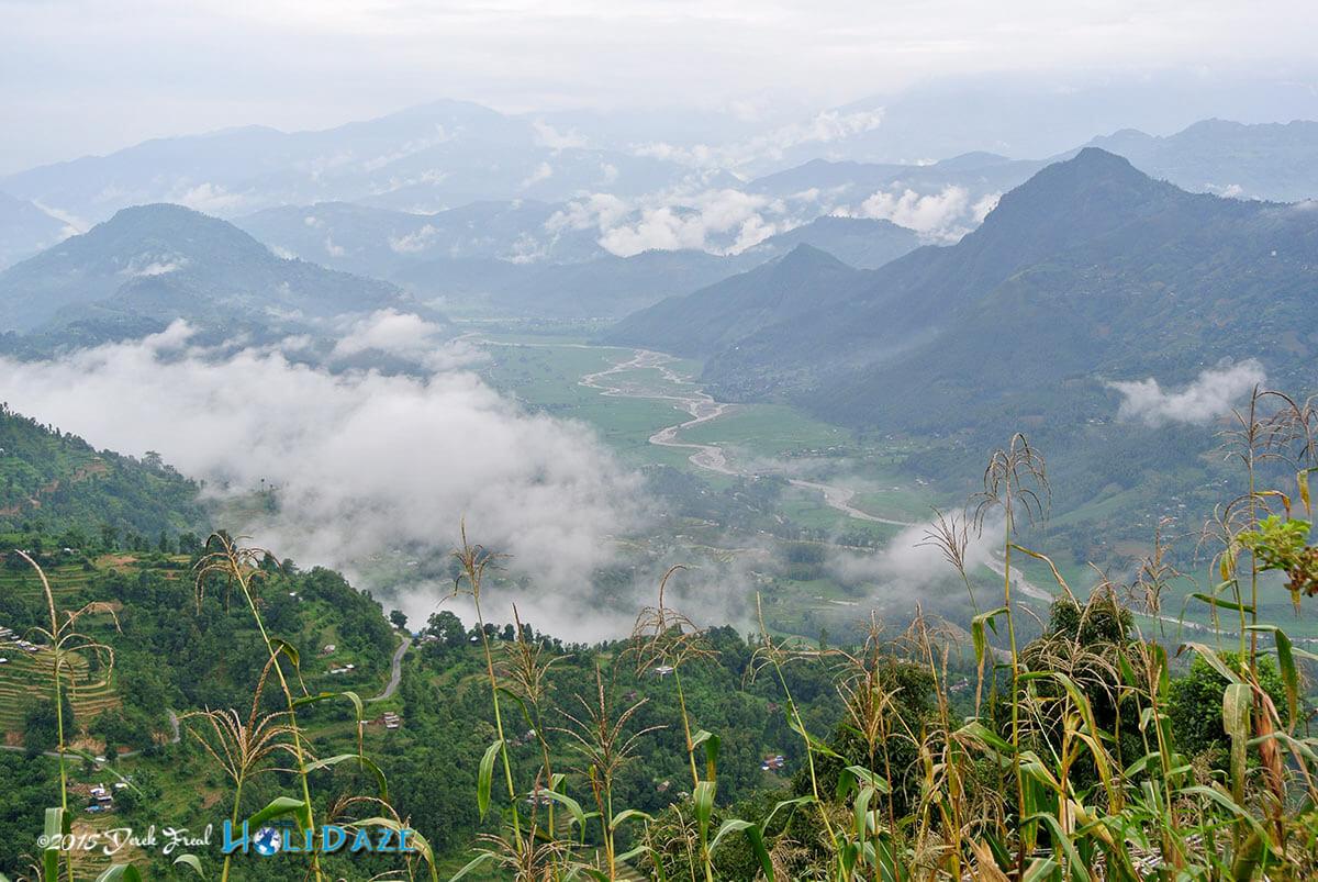 Nepal mountaintop view