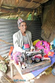 This gentleman is the village tailor high up in the mountains of Nepal