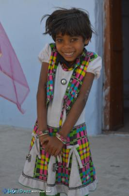 Adorable little girl at the Pushkar Camel Fair 2015