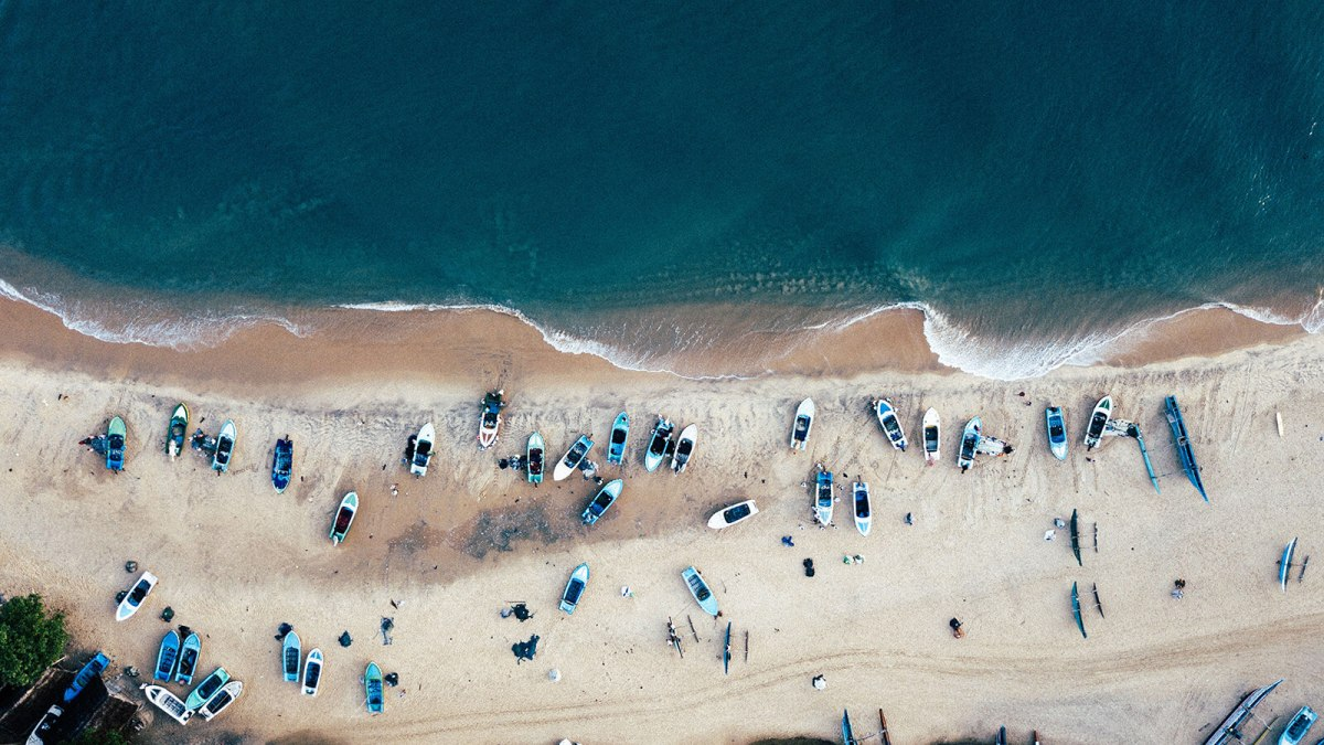 Aerial view of Arugam Bay, Sri Lanka