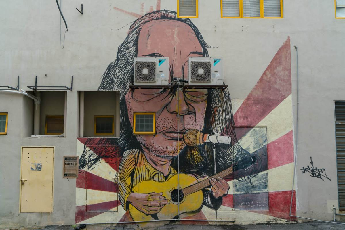 Laman Seni 7 street art scene in Shah Alam, Malaysia