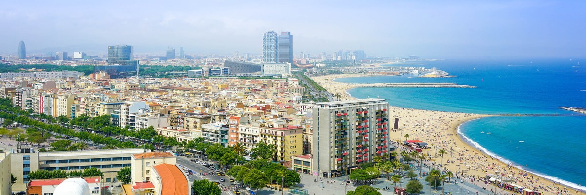 Breathtaking aerial view of Barcelona, Spain