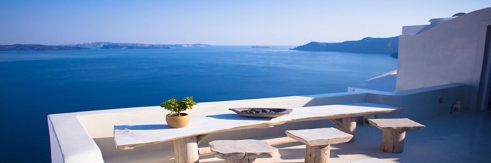 Breathtaking view in Oia, Greece