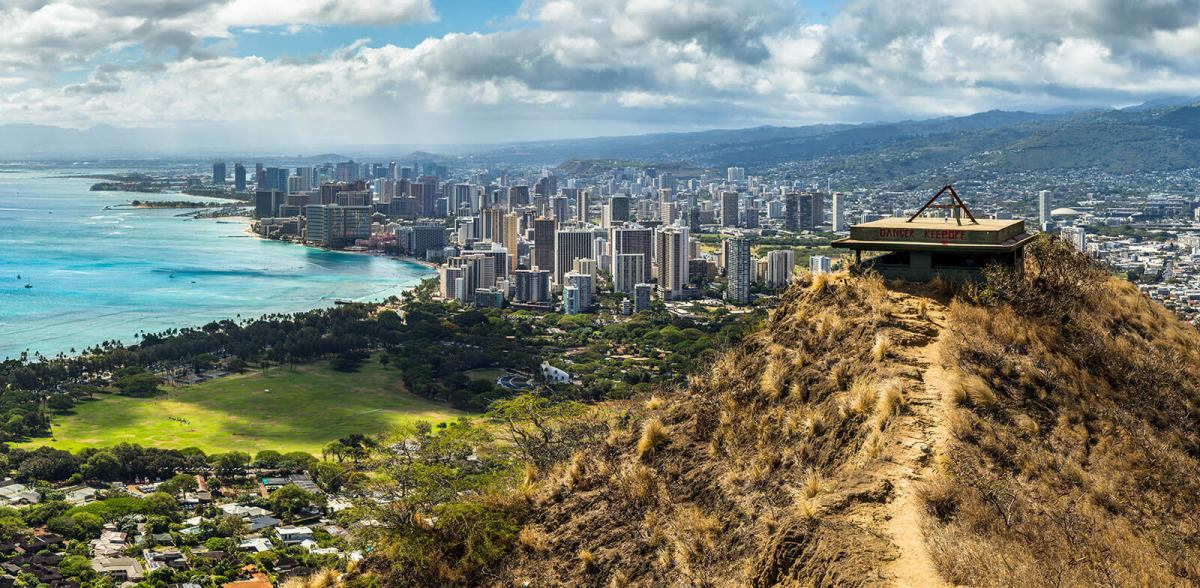 Hiking Diamond Head Volcano In Hawaii
