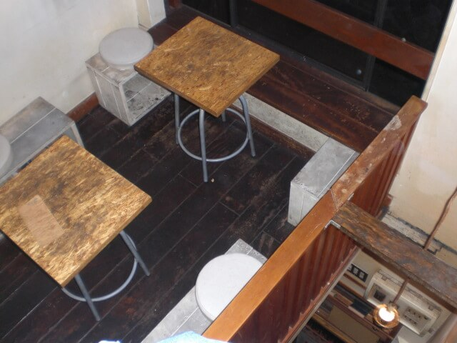 Upstairs of a small Nonbei Yokocho bar in Shibuya ward, Tokyo, Japan