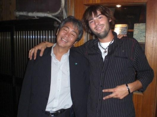 Making friends at Nonbei Yokocho, Shibuya ward