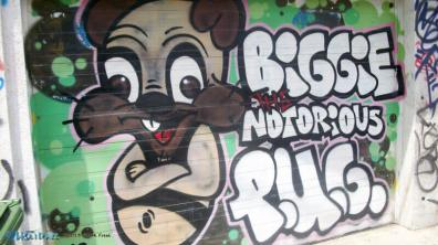Biggie Notorious P.U.G. street art at Graffiti Alley, Toronto, Canada