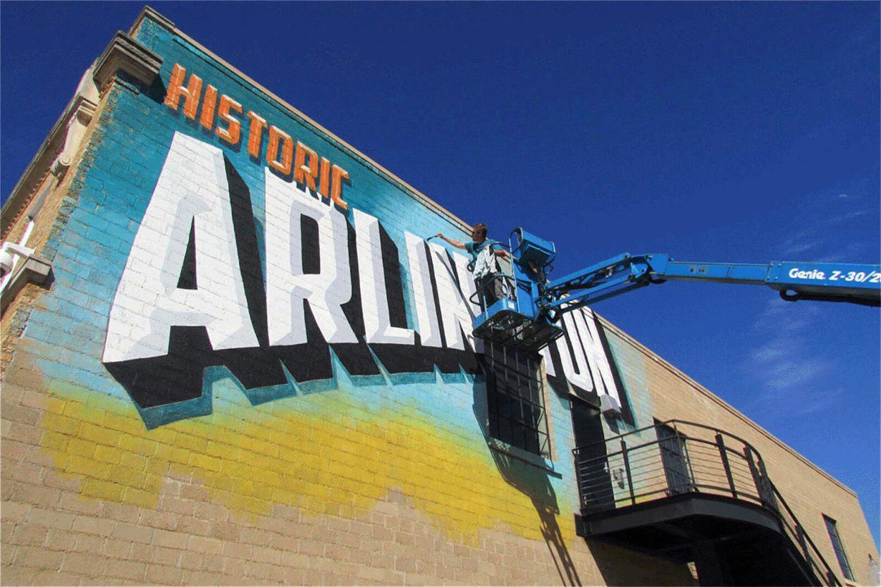 Offbeat Arlington street art -- because everything is bigger in Texas