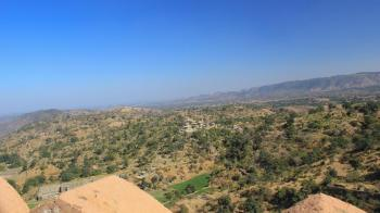 View from Kumbhalgarh Fort UNESCO World Heritage Site in Rajsthan, India