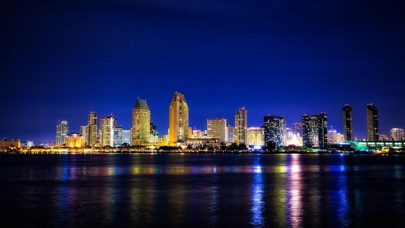 Night skyline of San Diego, California