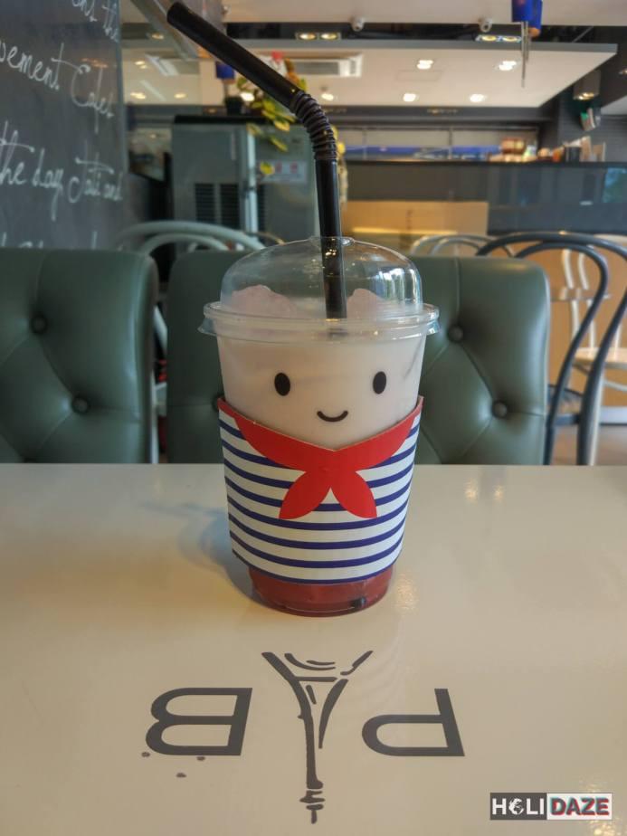 Cute Korean coffee from Paris Baguette