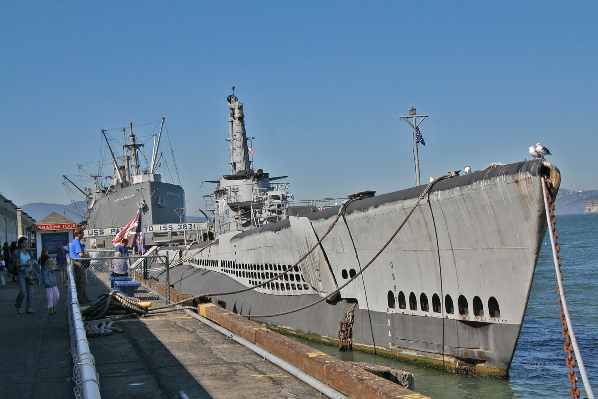 USS Pampanito submarine in San Francisco, California