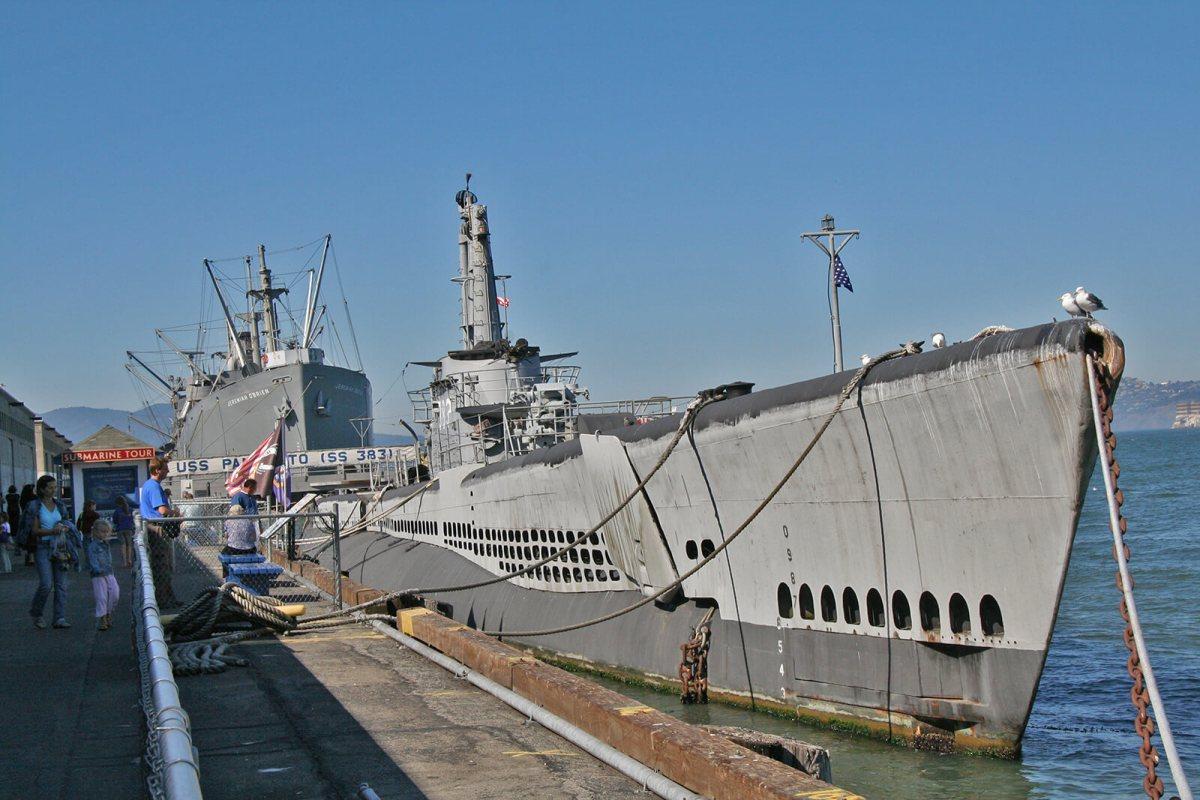 USS Pampanito submarine in San Francisco, California