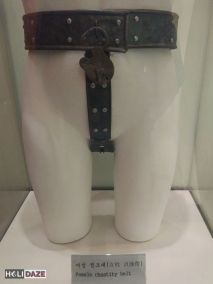 Antique female chastity belt at the Love Castle sex museum in Gyeonju, South Korea