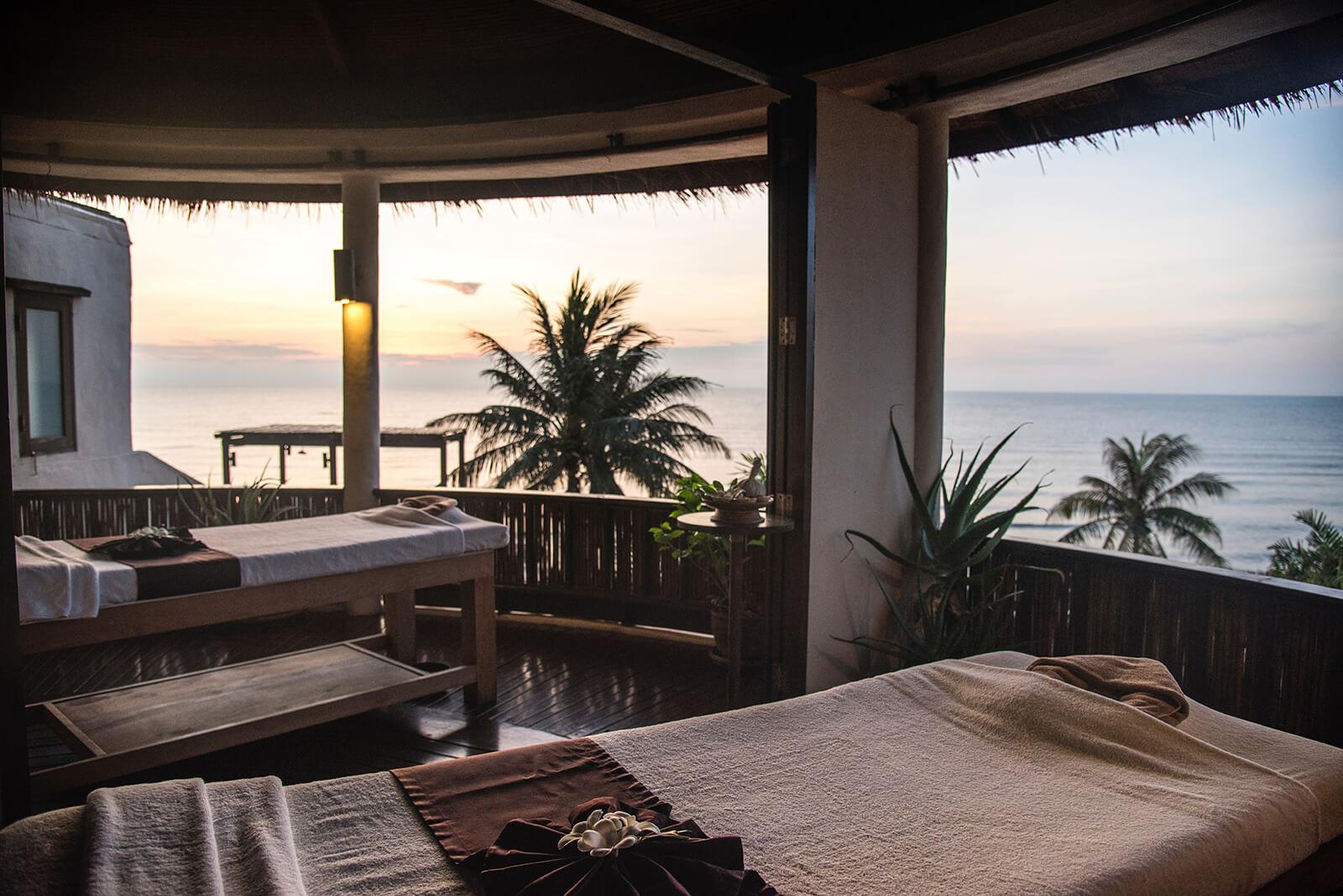Luxury spa on the beach