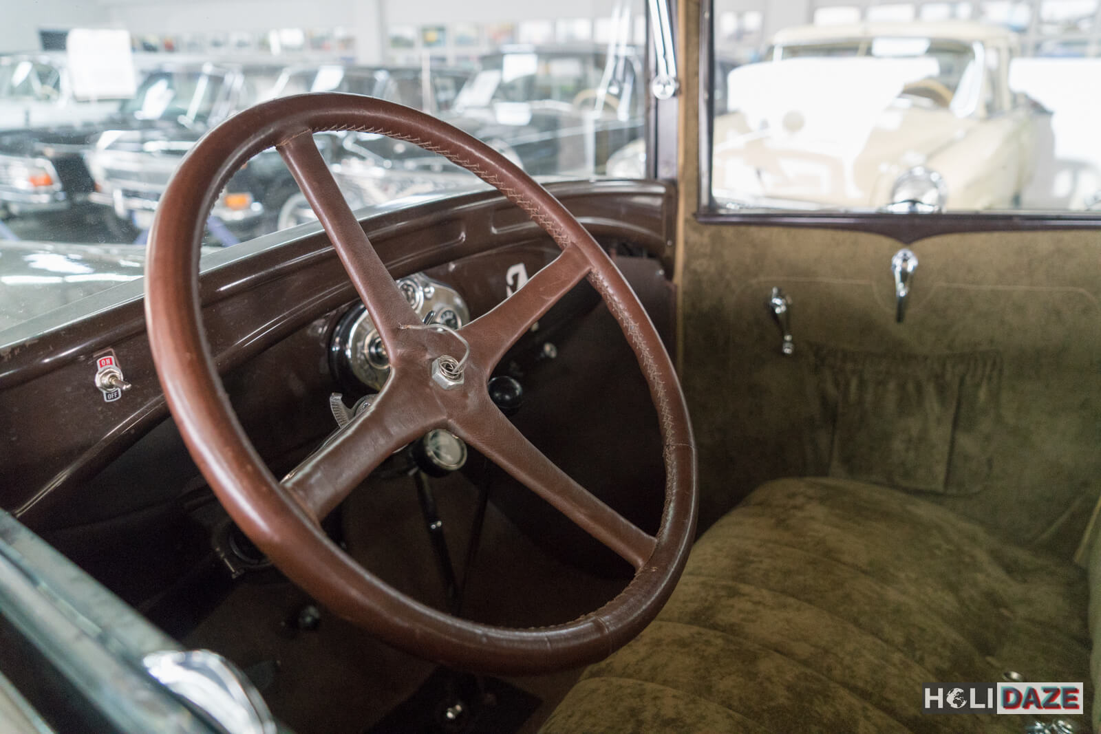 Interior of a 1930 Ford Model A