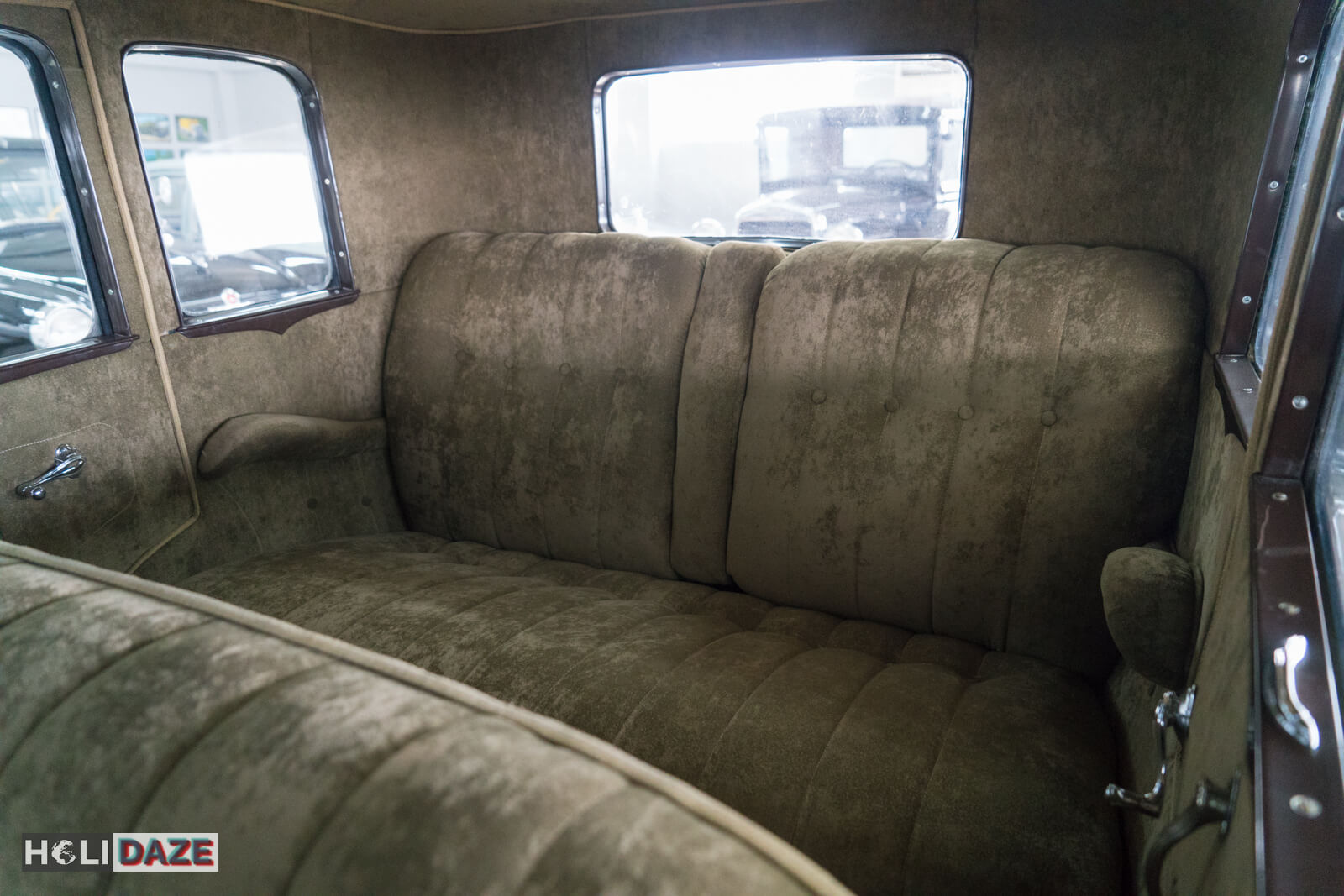 Backseat of a 1930 Ford Model A