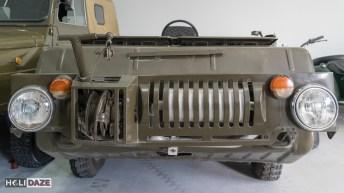 Military vehicles at Tbilisi Auto Museum in Georgia
