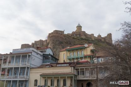 Mountaintop fort above Tbilisi Old Town