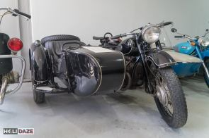 Motorcycle on display at Tbilisi Auto Museum in Georgia