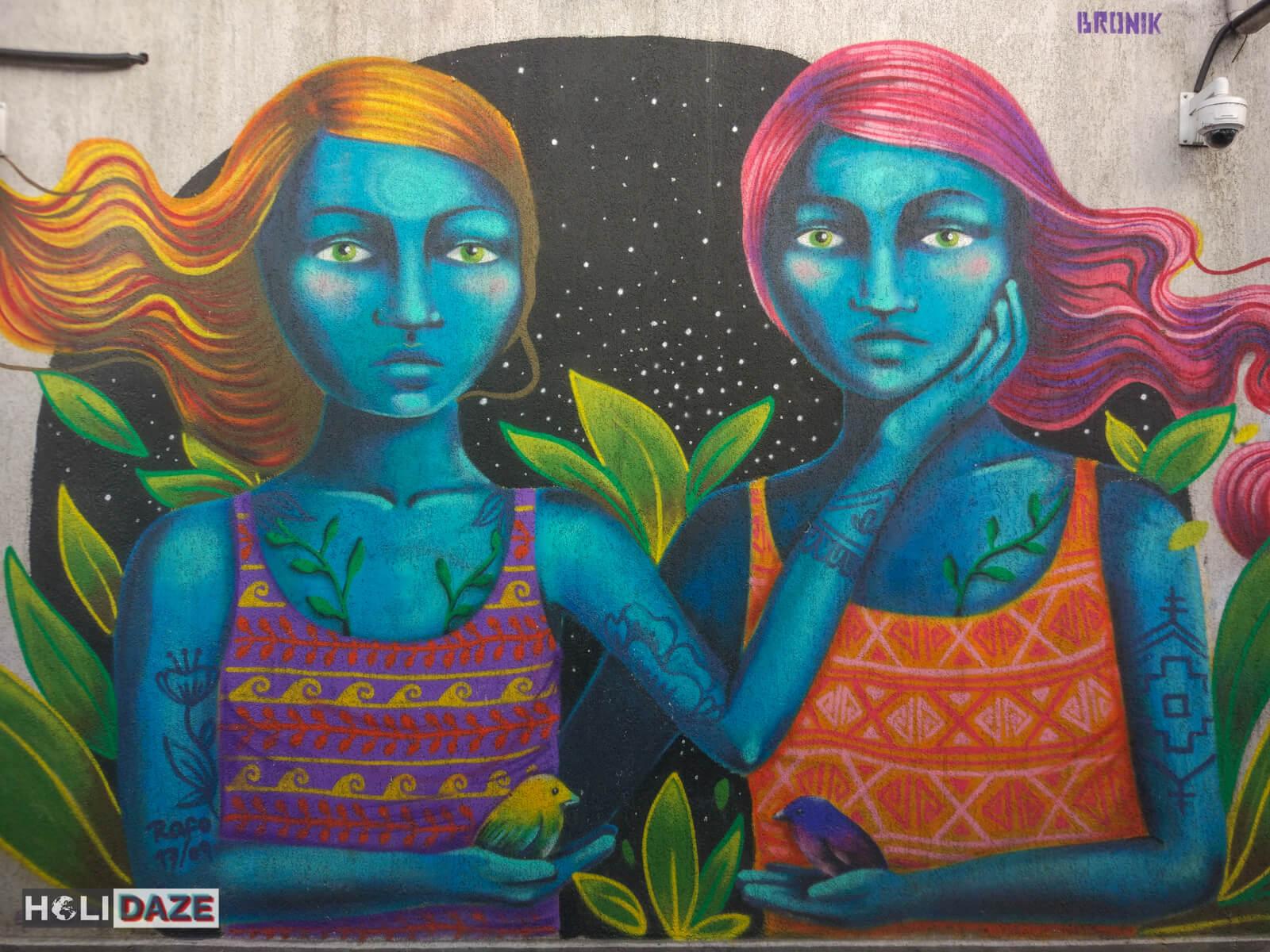 Tbilisi street art found near the Nikoloz Baratashvili Bridge