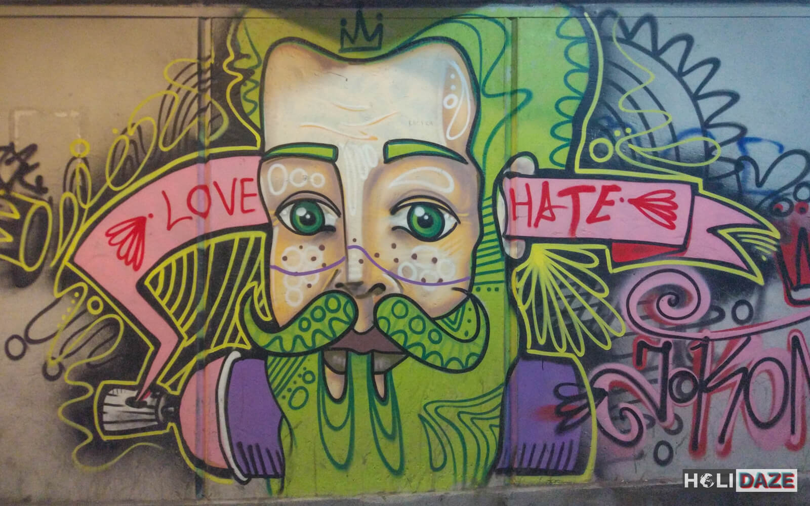 Love hate Tbilisi street art