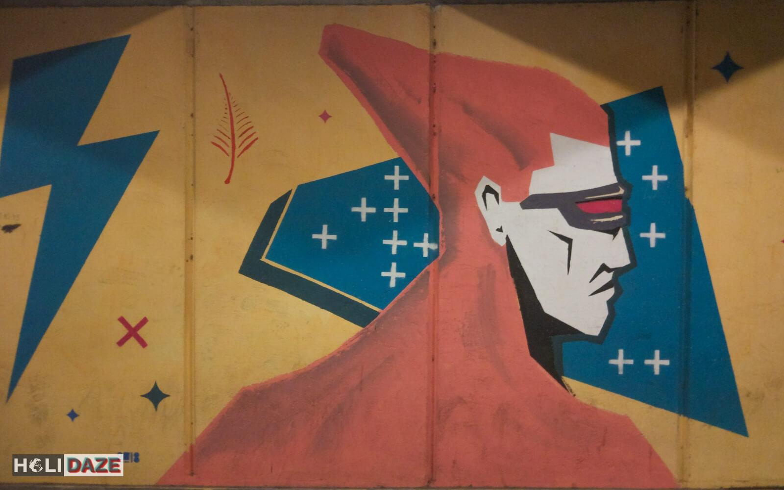 Tbilisi street art superhero