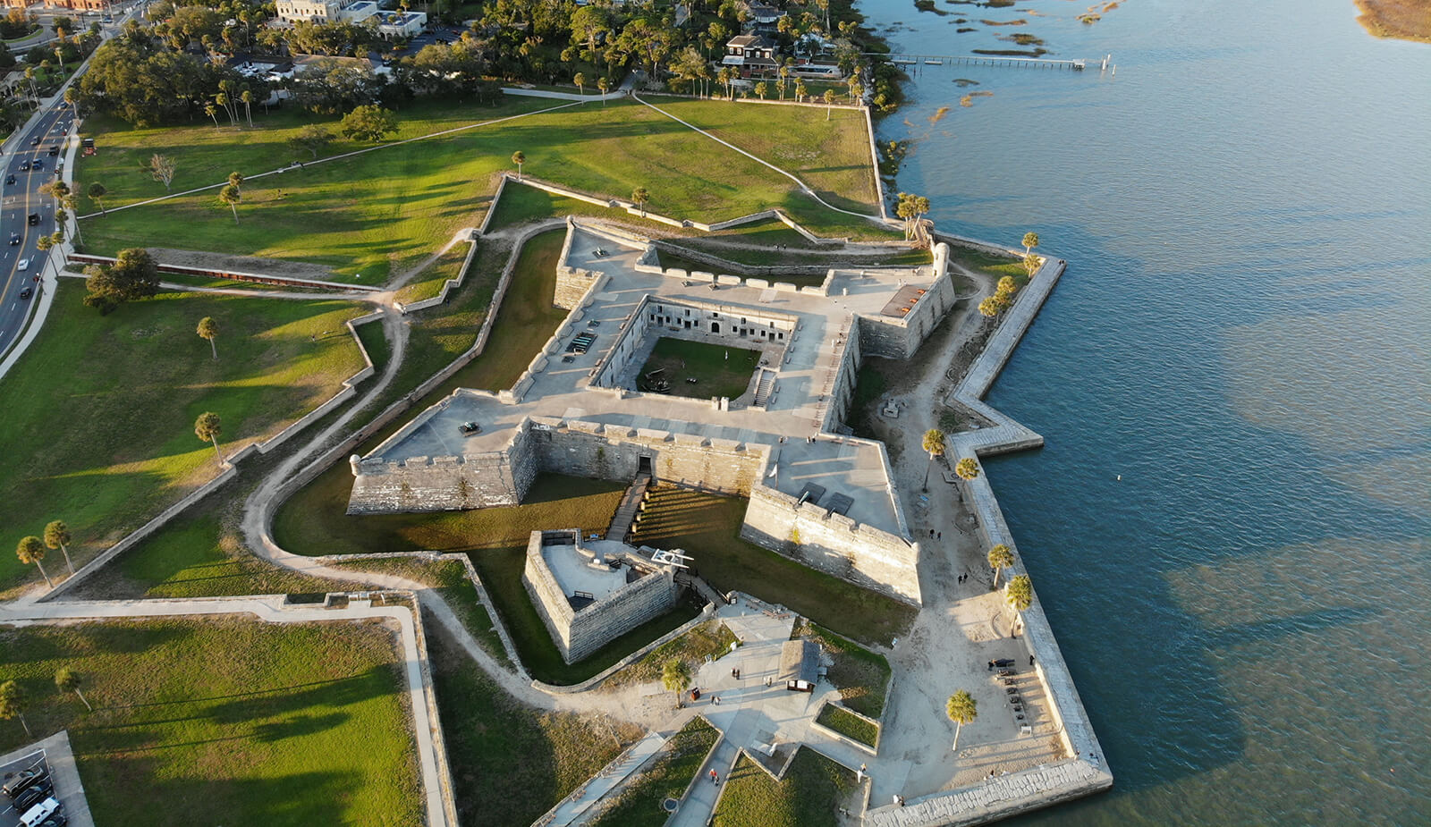 The iconic Castillo de San Marcos in St Augustine, Florida