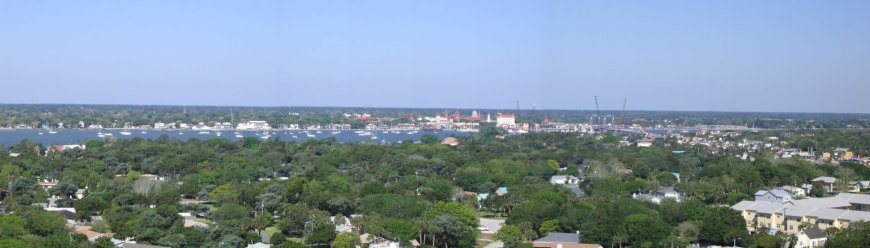 Panoramic view from the St Augustine Lighthouse in Florida