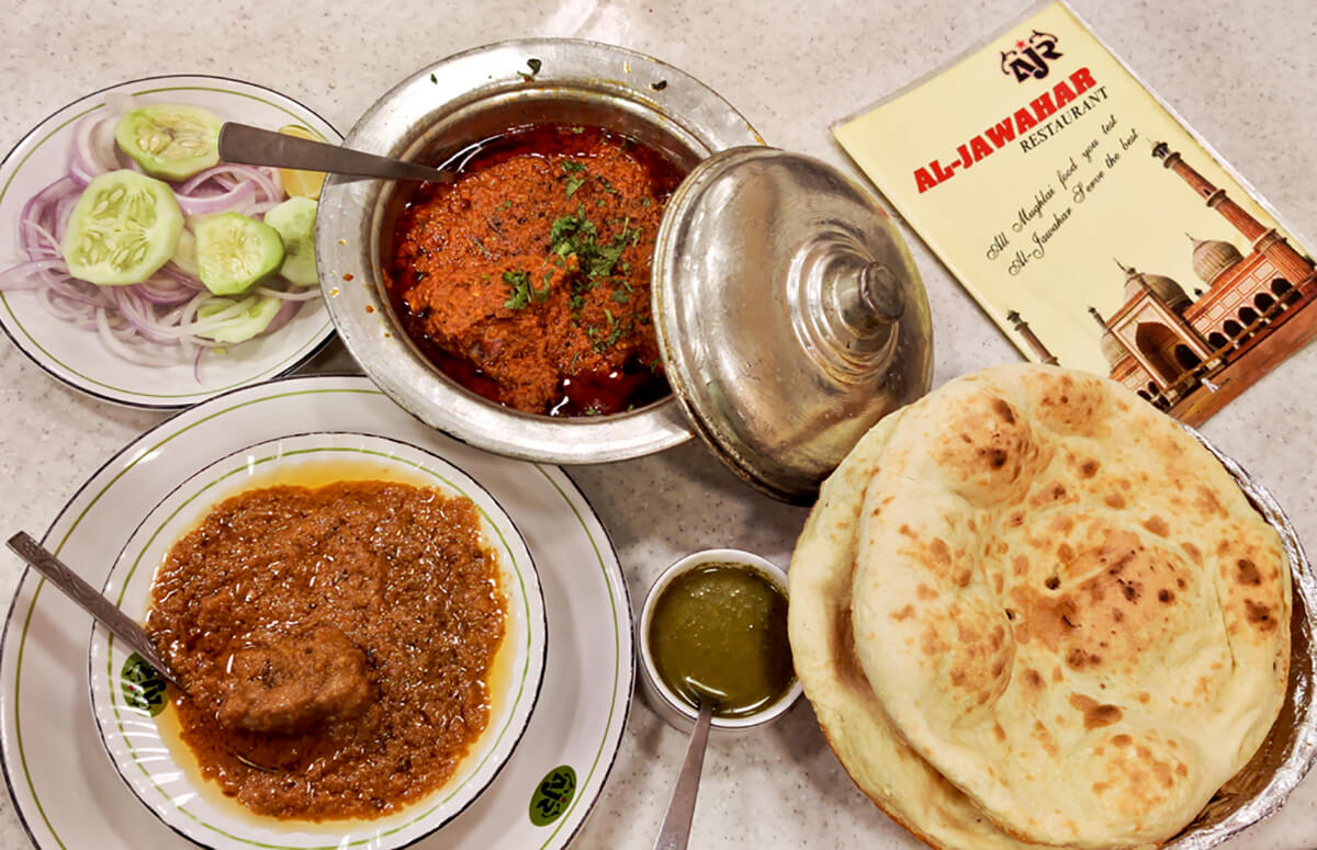 Al Jawahar is one of the oldest and most famous restaurants in Old Delhi
