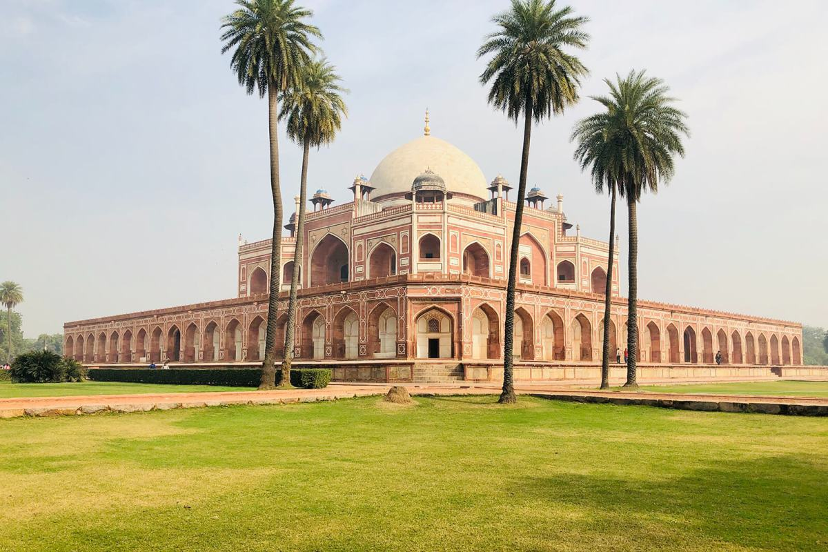 Humayun's Tomb in New Delhi is surrounded by beautiful gardens