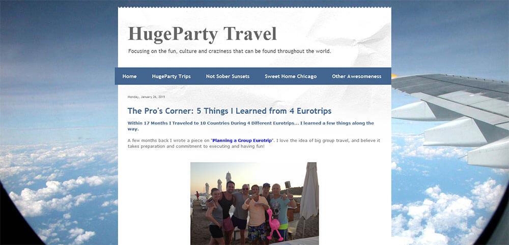 Best New Travel Blog 2015 - HugeParty Travel