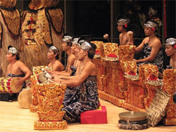 Gamelan music in Indonesia