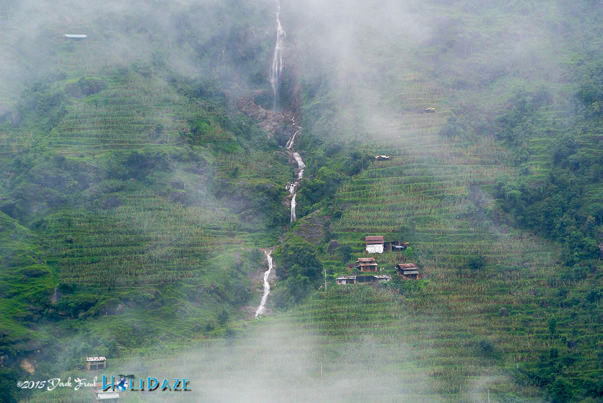 Monsoon streams in the mountains of Nepal now