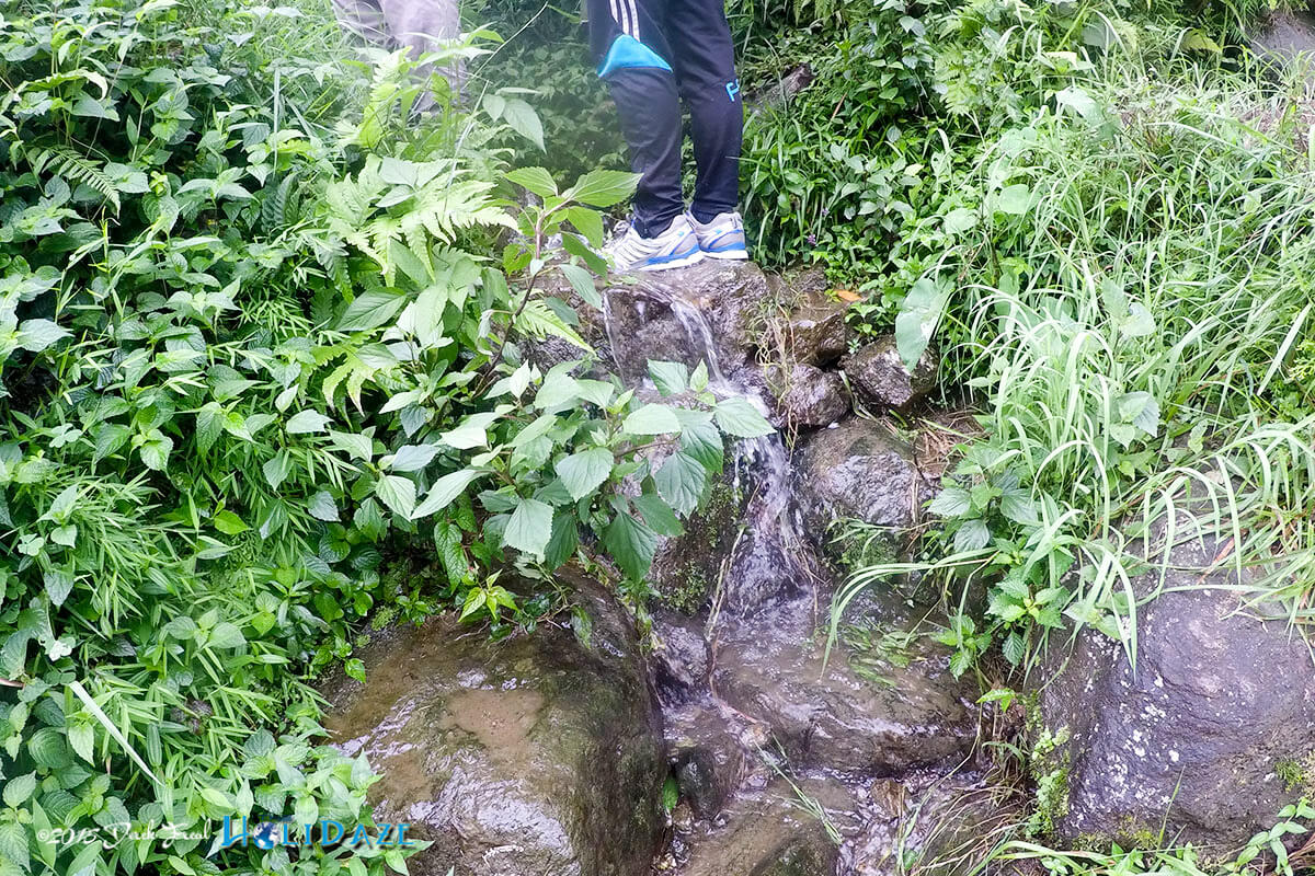 Trekking Nepal in the monsoon season means lots of paths are really small streams