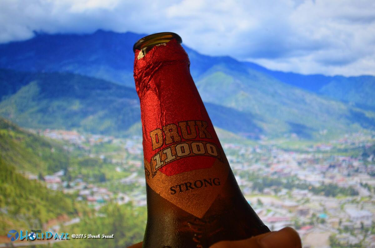 Druk beer in Bhutan