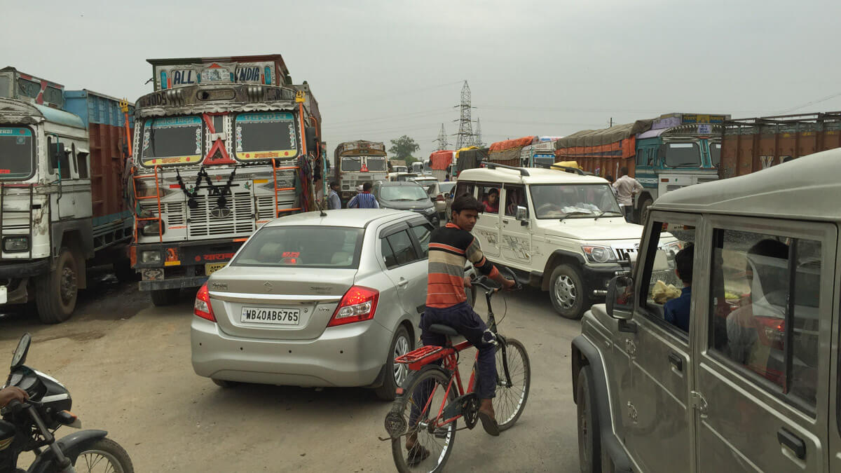 There are traffic jams everywhere in India because drivers here have no patience and end up making things 10x worse
