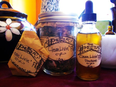 My Clean Livin' herbal blend includes nettles, blessed thistle and dandelion root