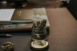 jar of kush on table
