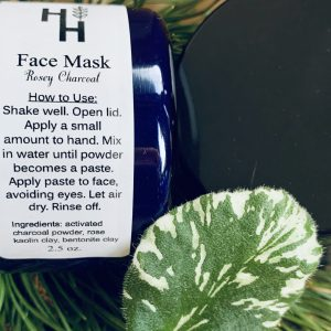 rosey charcoal face mask