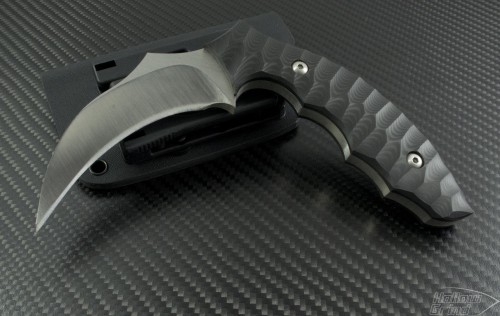 Brous Blades Custom Karambit Fixed Knife (3.25in Black