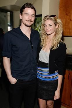Actors Josh Hartnett and Tamsin Egerton visit the Moet and Chandon Suite at the 2015 BNP Paribas Open on March 21, 2015 in Indian Wells, California. (Photo by Michael Kovac/Getty Images for Moet and Chandon)