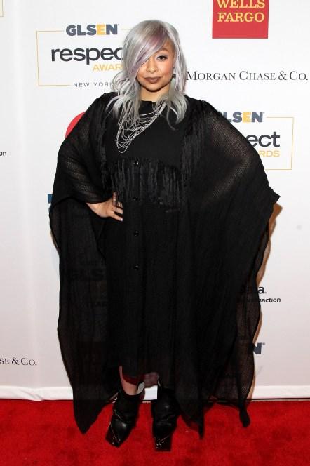 NEW YORK, NY - JUNE 01: Raven Symone attends 2015 GLSEN Respect Awards on June 1, 2015 in New York City. (Photo by Bennett Raglin/Getty Images for GLSEN)