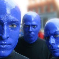 American Comedian and Actor Jason Sudeikis attends Blue Man Group in New York on April 22