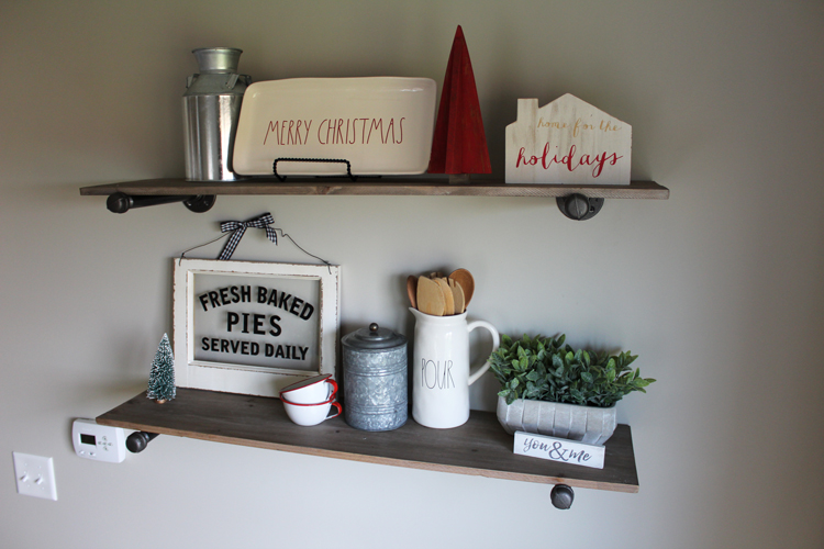 Holiday Pipe Shelves