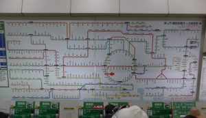 Japanese railway map