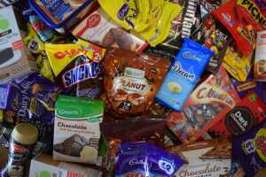 Close up of chocolates for the Chocolate-Only Diet week